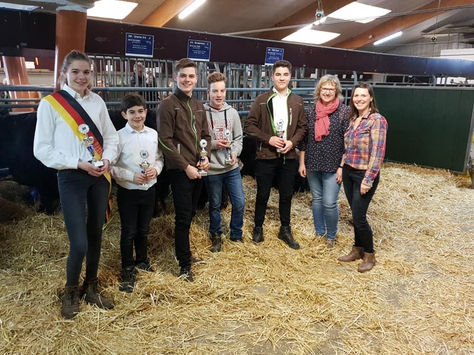 Galloway Jungzüchter bei den Fleischrindertagen in Verden 2019