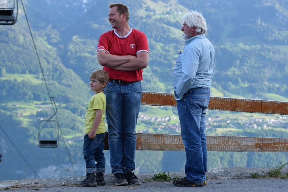 Peter Böni und Sohn mit Horst Krafft